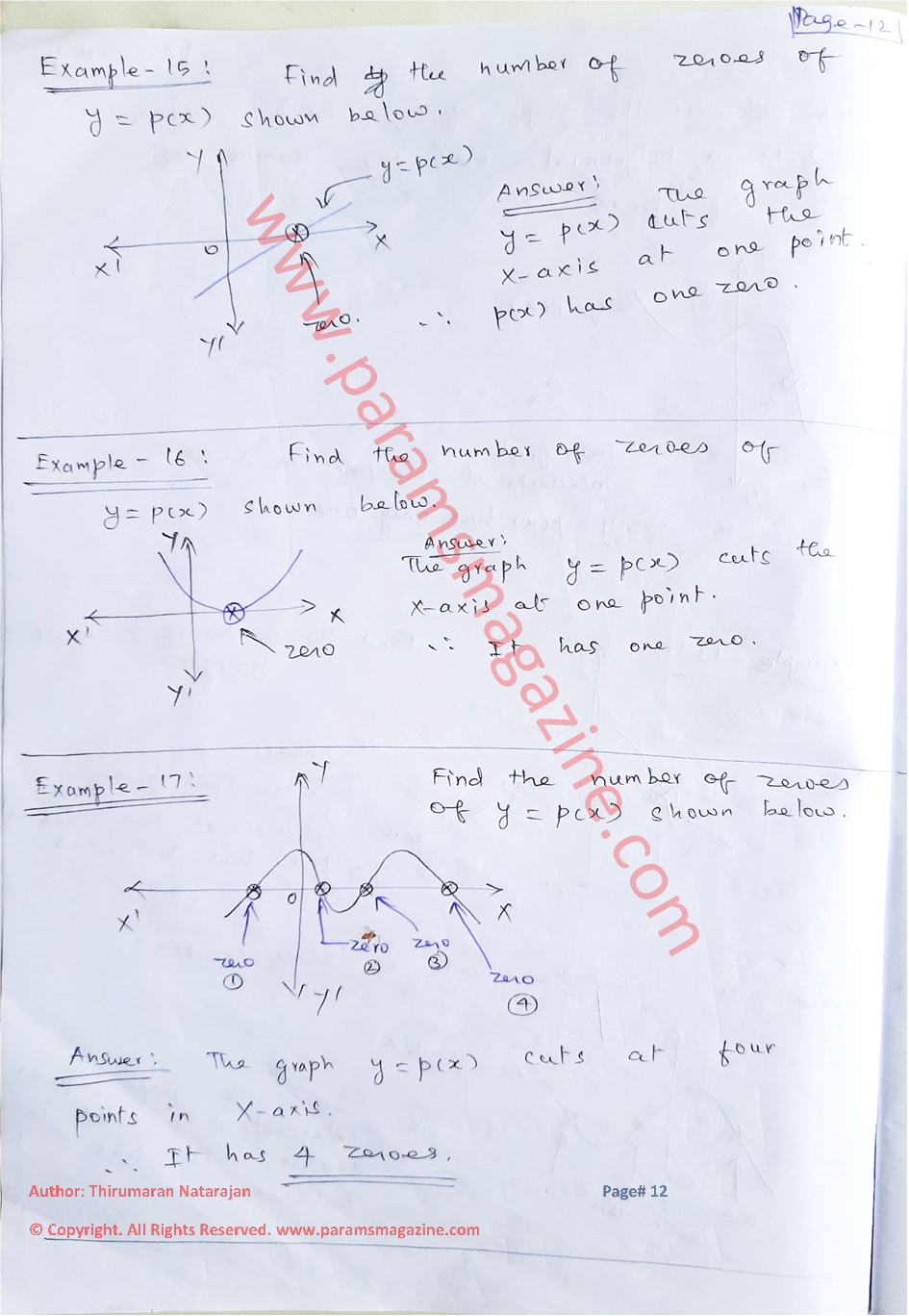 Class-10 - Polynomials - Notes - Page-12