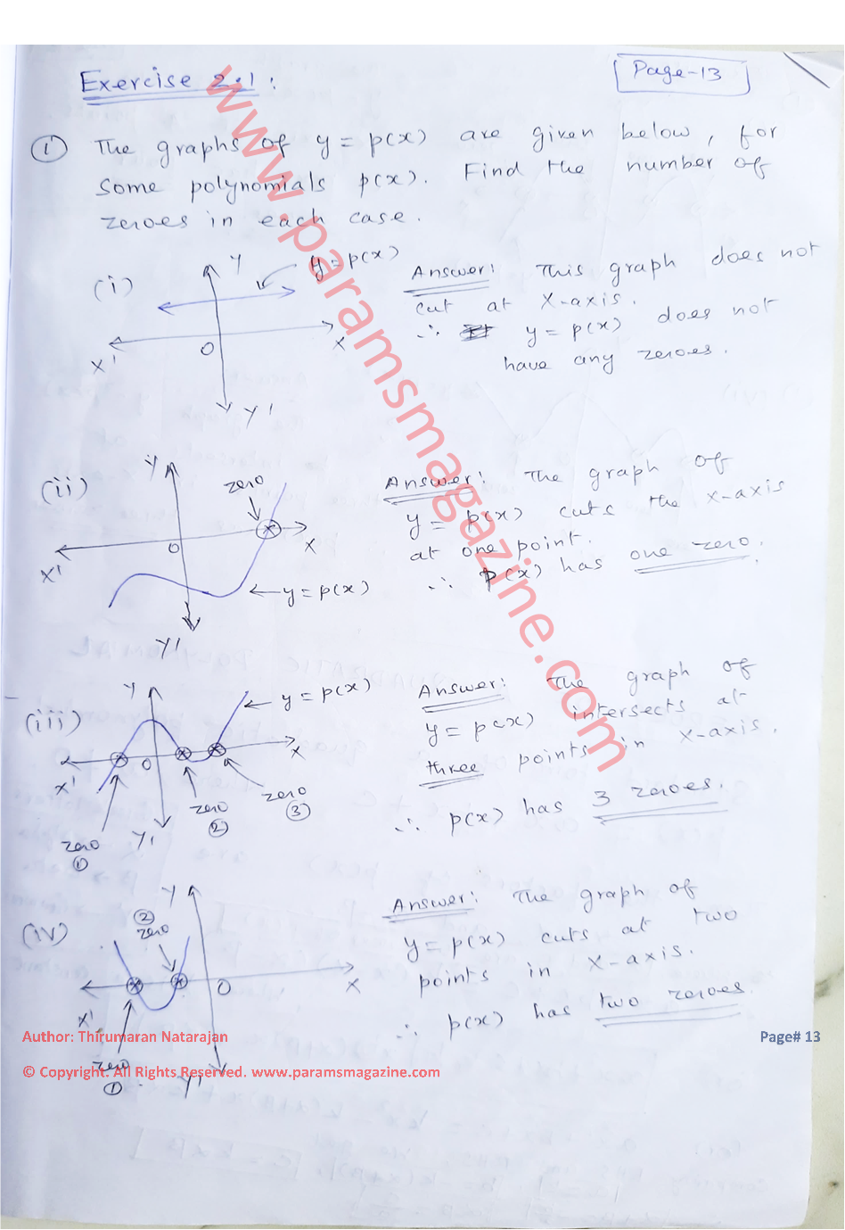 Class-10 - Polynomials - Notes - Page-13