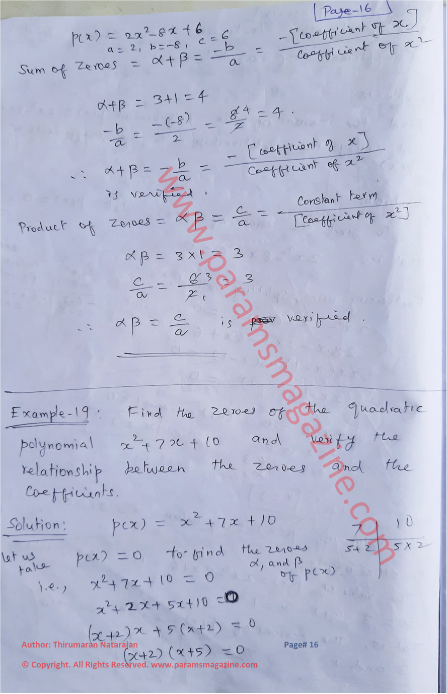 Class-10 - Polynomials - Notes - Page-16