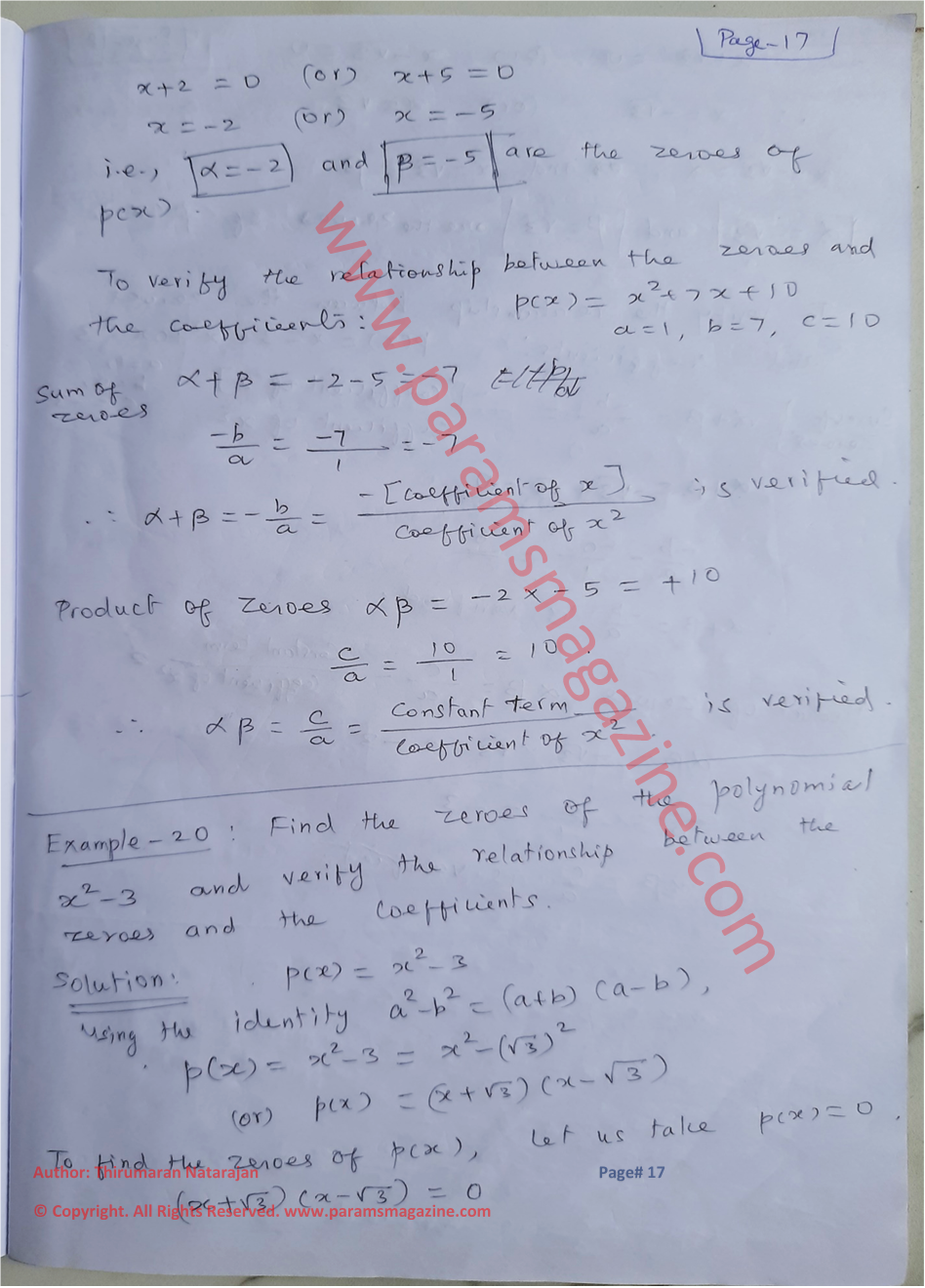 Class-10 - Polynomials - Notes - Page-17