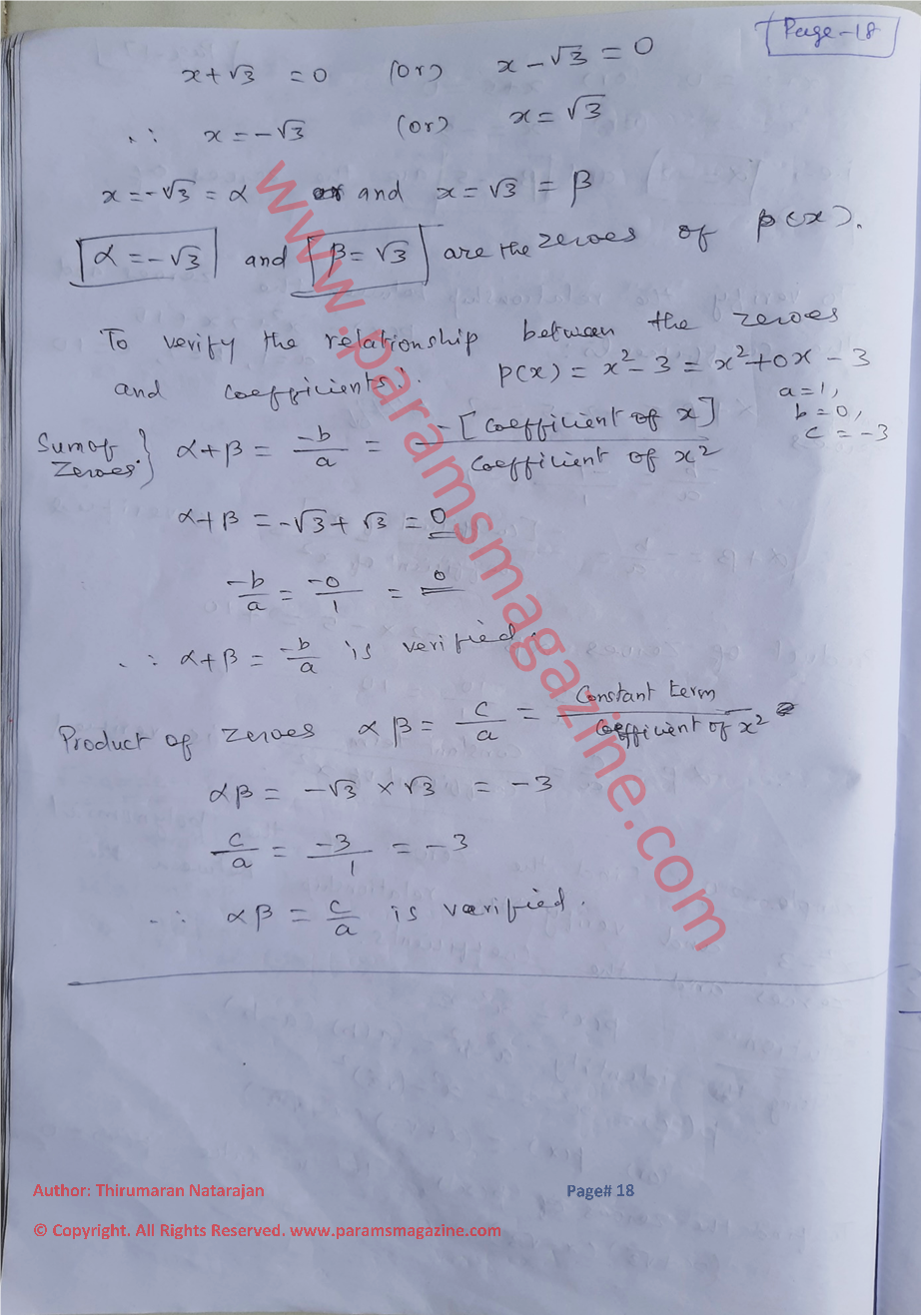 Class-10 - Polynomials - Notes - Page-18