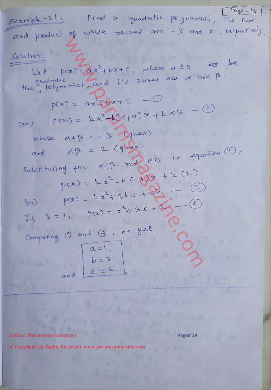 Class-10 - Polynomials - Notes - Page-19