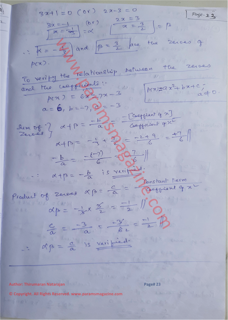 Class-10 - Polynomials - Notes - Page-23