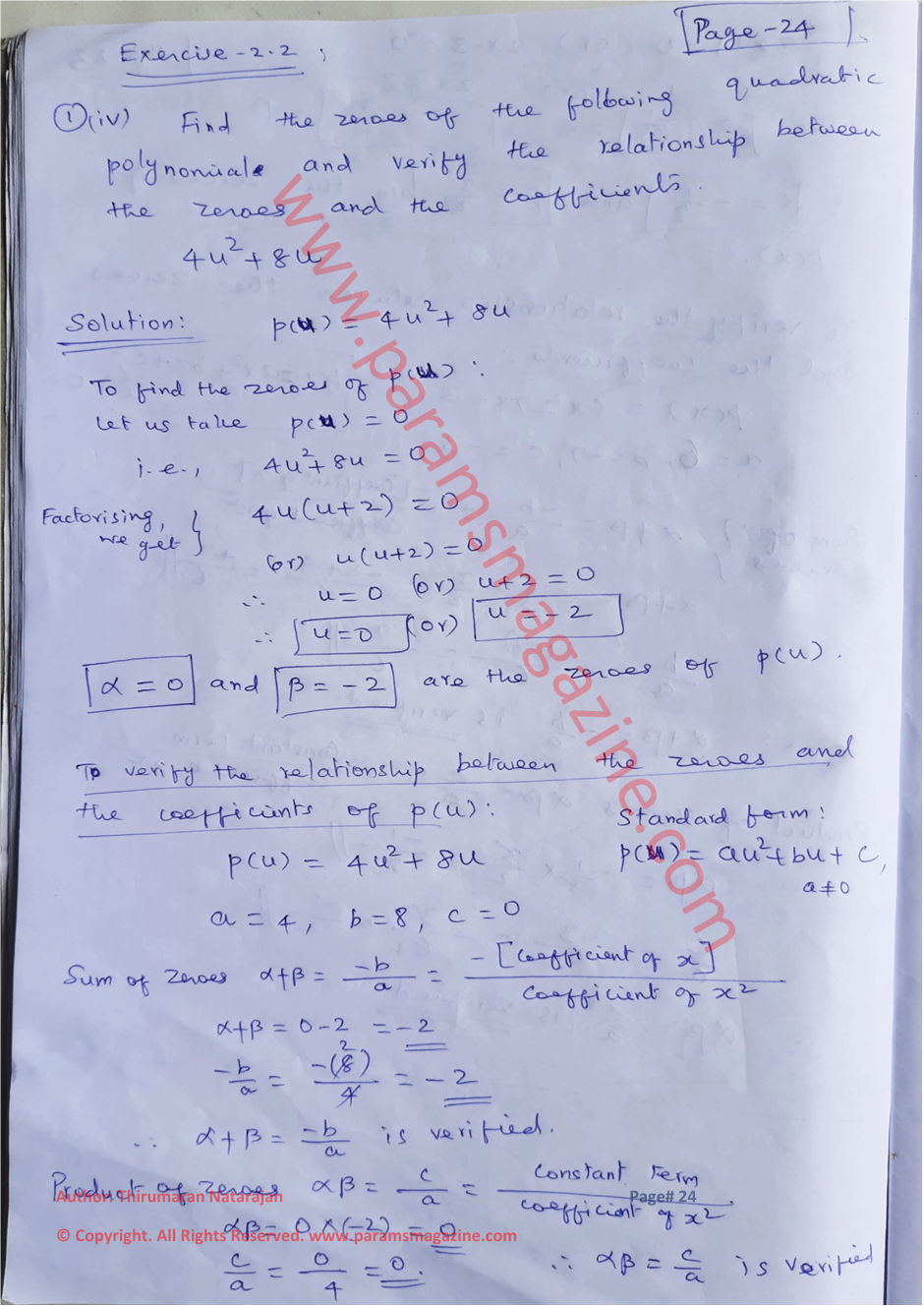 Class-10 - Polynomials - Notes - Page-24