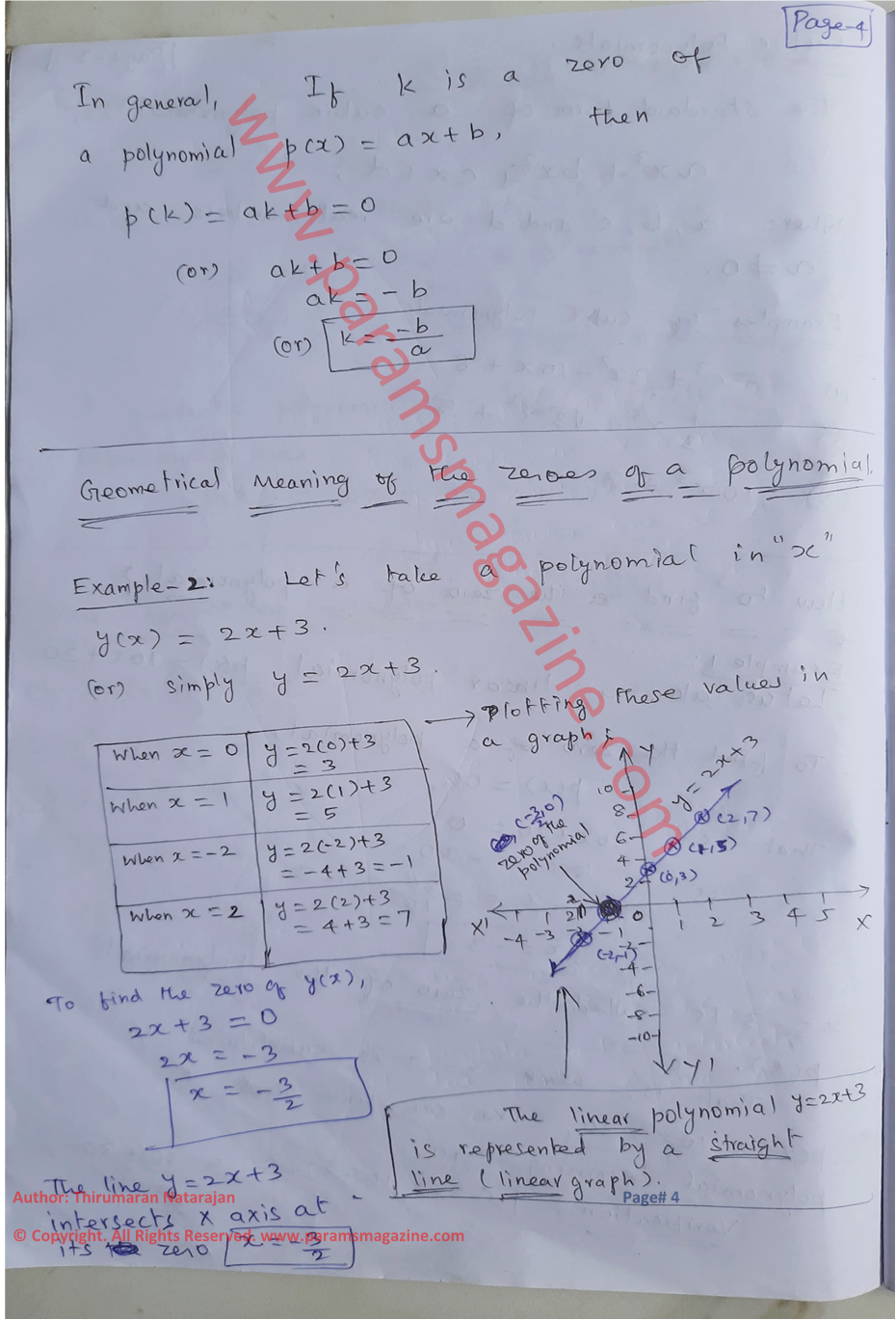 Class-10 - Polynomials - Notes - Page-4