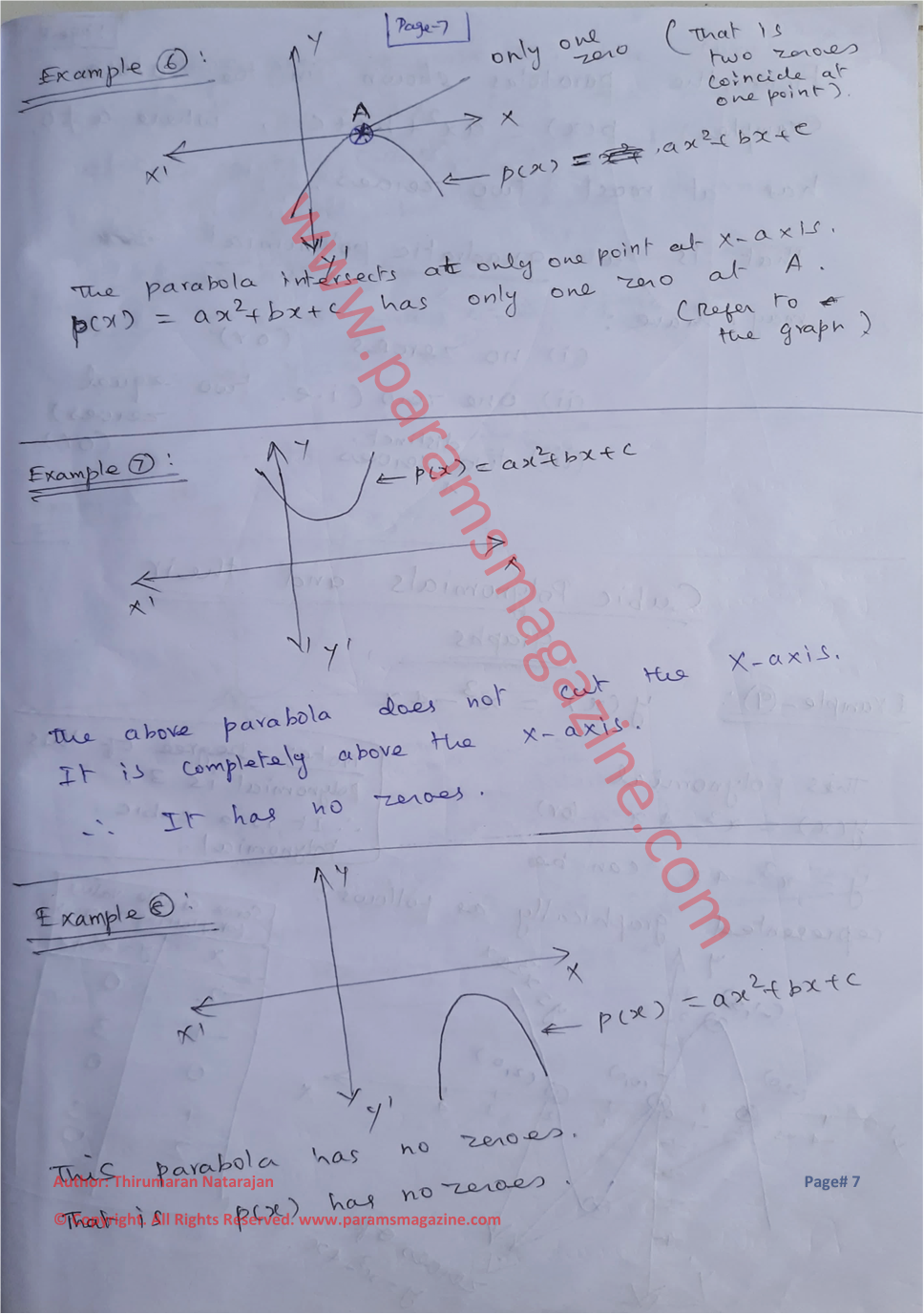 Class-10 - Polynomials - Notes - Page-7