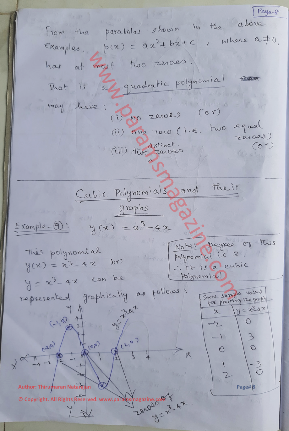 Class-10 - Polynomials - Notes - Page-8